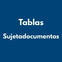 TABLAS SUJETADOCUMENTOS