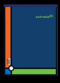 BLOCK ESTRELLA T/CARTA RAYA 80 HOJAS NO.5 *
