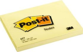 BLOCK POST-IT 3M NO. 657  AMARILLO                     *