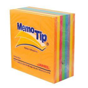 BLOCK MEMO TIP JANEL NO.54 3X3 CUBO NEON                    *