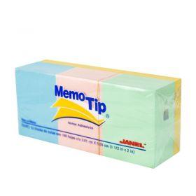 BLOCK MEMO TIP JANEL MINI CUBO 2X2 PASTEL                   *