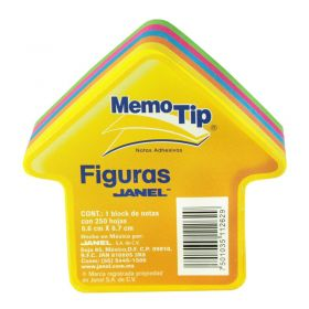 BLOCK MEMO TIP JANEL FIGURA FLECHA *