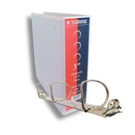 CARPETA TORRE 3 75MM C/CRISTAL H D BLANCA
