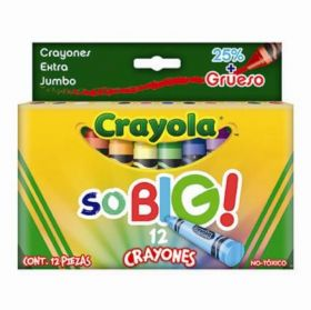 CRAYON CRAYOLA CJA C/12 EXTRA JUMBO SO BIG 52-1912