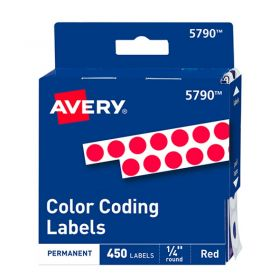 ETIQUETA AVERY NO.TD5730 PERM. RED. ROJA C/450