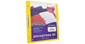 FOLDER ACCOPRESS C/BROCHE 8CMS CARTA AMARILLO