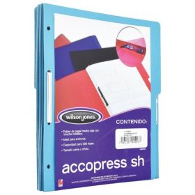 FOLDER ACCOPRESS C/BROCHE 8CMS CARTA AZUL CLARO