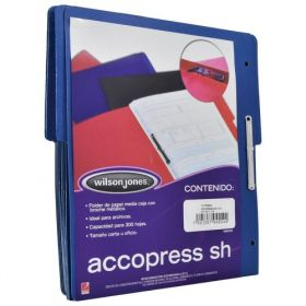 FOLDER ACCOPRESS C/BROCHE 8CMS CARTA AZUL OBSCURO