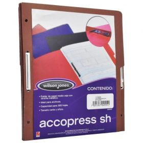 FOLDER ACCOPRESS C/BROCHE 8CMS CARTA CAOBA