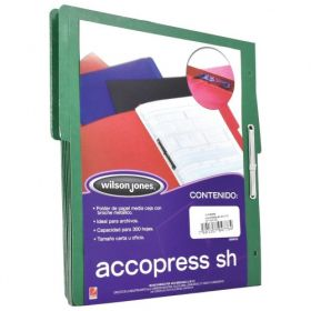 FOLDER ACCOPRESS C/BROCHE 8CMS CARTA VERDE OBSCURO