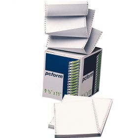 PAPEL STOCK 9 1/2X11 1 TANTOS BLANCO *