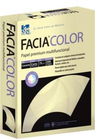 PAPEL FACIA BOND CARTA 36 KG. AMARILLO C/500             *