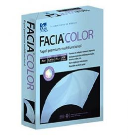 PAPEL FACIA BOND CARTA 36 KG. AZUL C/500                 *
