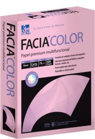 PAPEL FACIA BOND CARTA 36 KG. ROSA C/500                 *