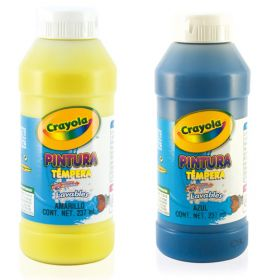 PINTURA CRAYOLA TEMPERA 237 ML AMARILLO