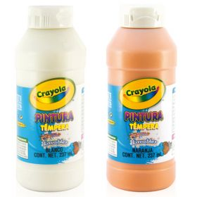 PINTURA CRAYOLA TEMPERA 237 ML BLANCO