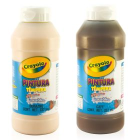 PINTURA CRAYOLA TEMPERA 237ML CAFE