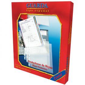PROTECTOR DE HOJAS GUARDA CARTA CON 100 PZAS NO.330 *