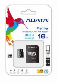 MEMORIA ADATA MICROSD + SD 16GB CLASE 10 (AUSDH16GUICL10-RA1)