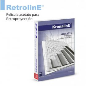 ACETATO KRONALINE T/ CARTA P/COPIADORA C/100 PA650 *