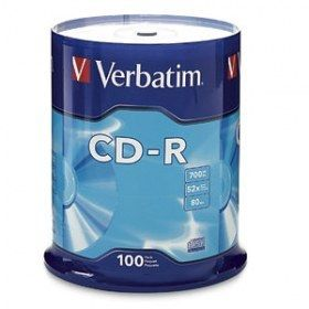 CD VERBATIM 700 MB 80 MIN. CD-R80 C/100 (94554)*