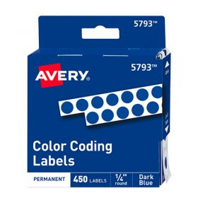 ETIQUETA AVERY NO.TD5733 PERM. RED. AZUL OBS C/450