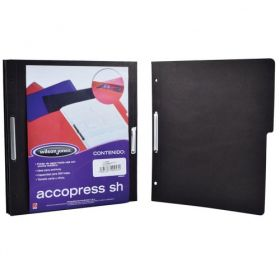 FOLDER ACCOPRESS C/BROCHE 8CMS CARTA NEGRO