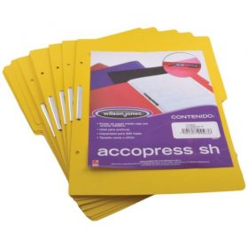 FOLDER ACCOPRESS C/BROCHE 8CMS OFICIO AMARILLO