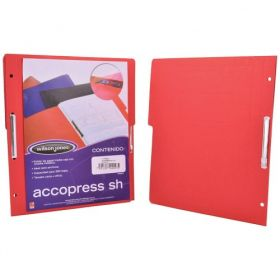 FOLDER ACCOPRESS C/BROCHE 8CMS OFICIO ROJO