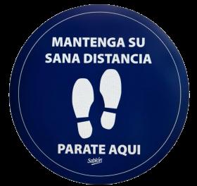 SEÑAL ADHERIBLE PARA PISO MANTEGA SU SANA DISTANCIA NO.7990