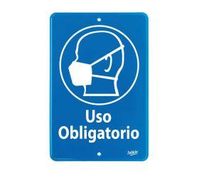 SEÑAL USO OBLIGATORIO CUBREBOCA 22.8X15.2 NO.7838