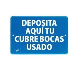 LETRERO SABLON NO.7849 SEÑAL DEPOSITA CUBREBOCAS 22.8x15