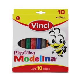 PLASTILINA VINCI C/10 BARRAS                               *