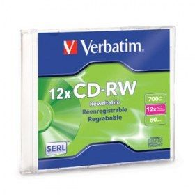 CD VERBATIM 700 MB 80 MIN. CD-RW REGRABABLE (95161)*